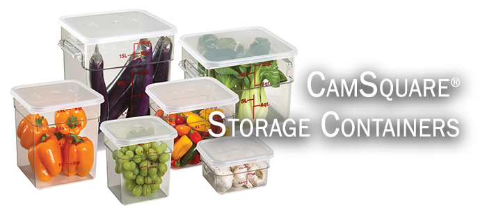 Commercial FOOD CONTAINERS CAMBRO CAMSQUARES Camtainers
