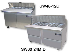 sandwich prep table from continental - Sandwich Prep Table