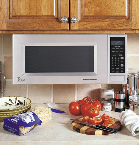 Ge microwaves and microwave shelf hanging