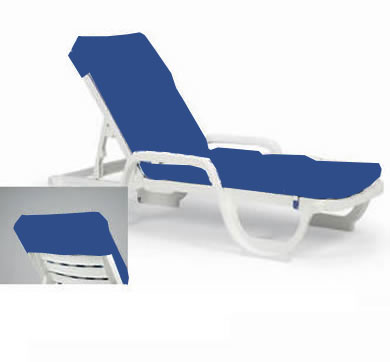 contract chaise cushion with hood