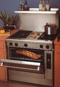 Model Shown Above 37 Home Range With Optional 22 Ss Riser High Shelf And San Franciscan Sourdough
