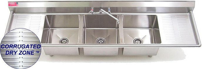 3 Tub Stainless Sink