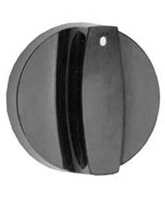 Knob for Montague Cooking Equipment, black knob with indicator mark