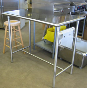Custom Residential Stainless steel tables
