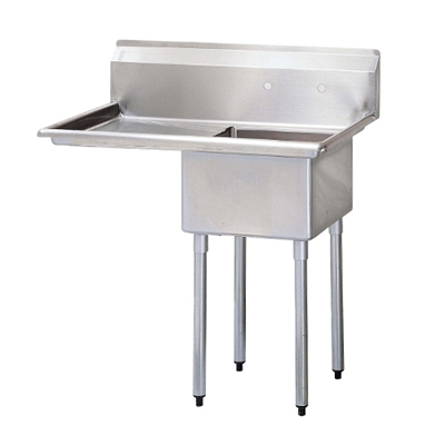 Single compartment sink with drainboard left