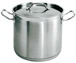 100 Quart Stainless steel stockpot with matching lid