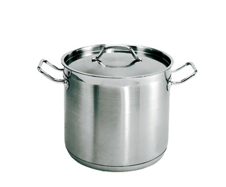 24 Quart Stainless steel stockpot with matching lid