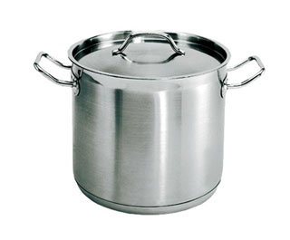 40 Quart Stainless steel stockpot, with lid