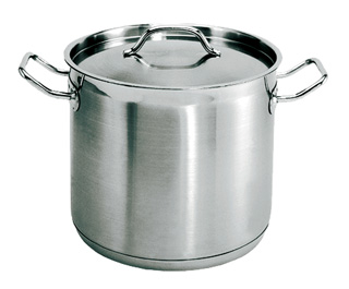 80 Quart Stainless steel stockpot with matching lid