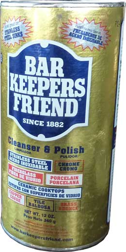 Stainless steel mild abrasive cleaner