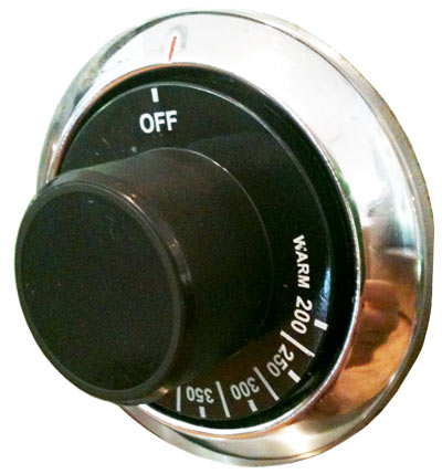 Knob  for Oven or Griddle Thermostat  on DGRS Series