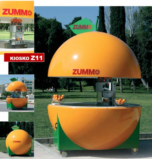 Zummo Juicer Kiosk, Z11 Mobile Juice Bar