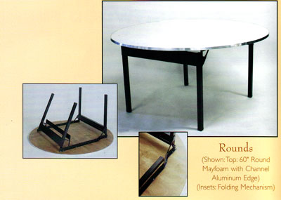 Round Maywood Commercial Tables