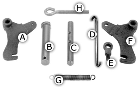 Door Hardware: Left Rocker Arm