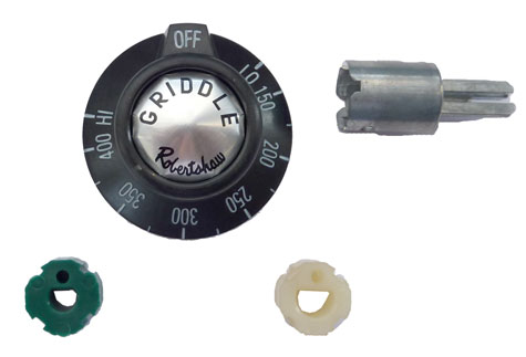 Griddle Knob/dial kit for Montague Grizzly Series, etc. Dial reads: Low-150-400-HI