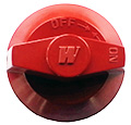 Knob (A), for Wolf Challenger Ranges, Broilers, etc. (Red) - NOT AVAILABLE