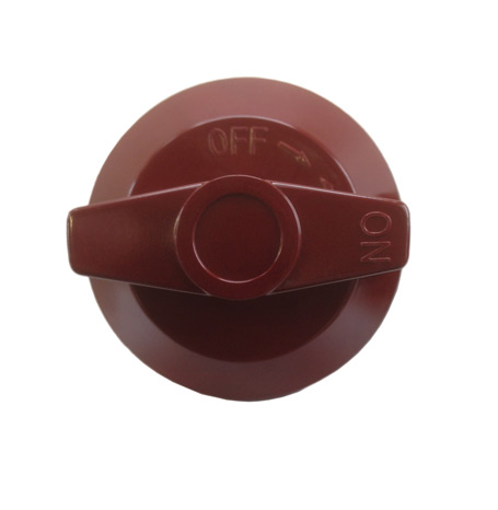 Knob D, for Wolf Range Cooking Equipment, Red (maroon)