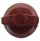 Knob D, for Wolf Range Cooking Equipment, Red