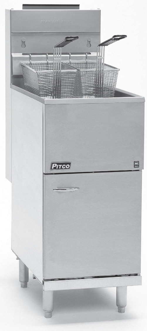 Pitco Frialator Exploded Parts Gas Fryer Vf35 User U0026 39 S Manual Guide