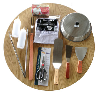Teppanyaki griddle tool kit