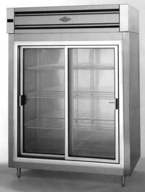 Attrayant Utility Two Door Refrigerator With Sliding Glass Doors
