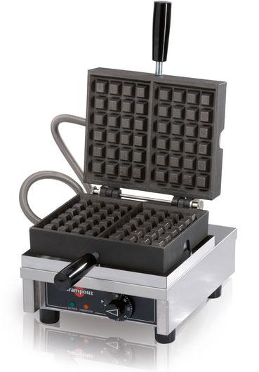 Single Waffle Iron Belgian 90 Opening 240 Volt Model Weccbcat
